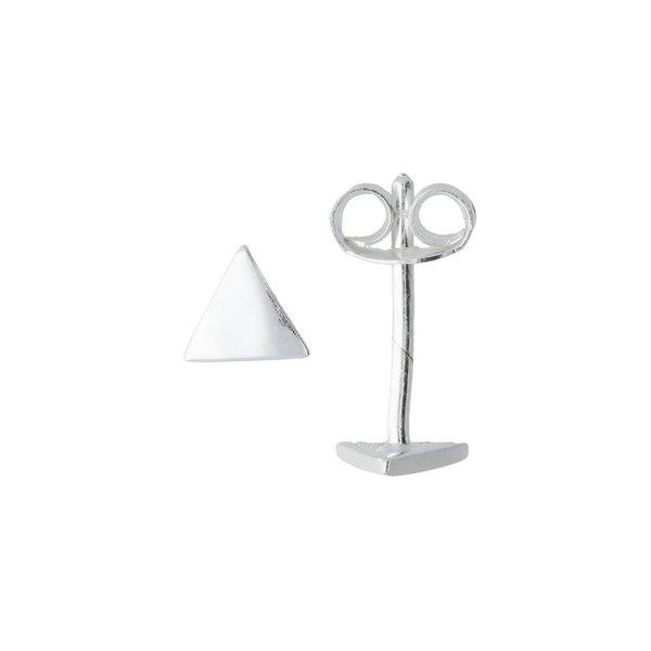 Zilveren symbooloorknopjes - driehoek
