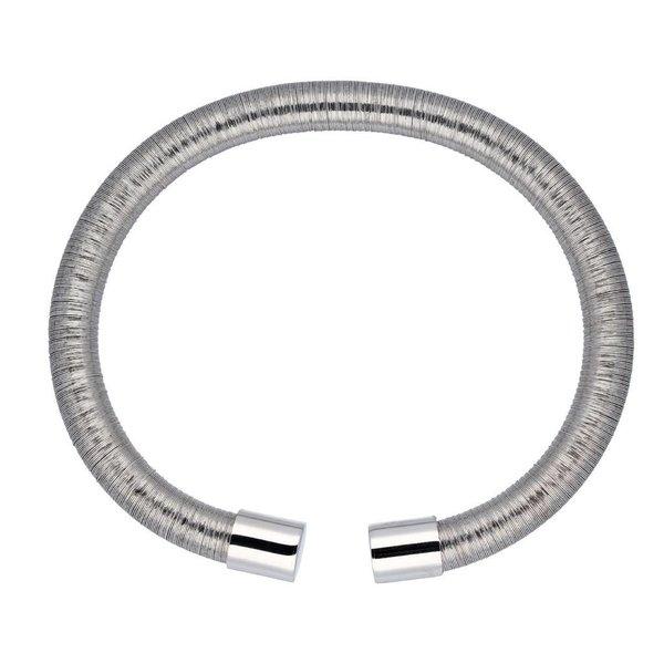 Zilveren klemarmband - 6mm breed - 56mm