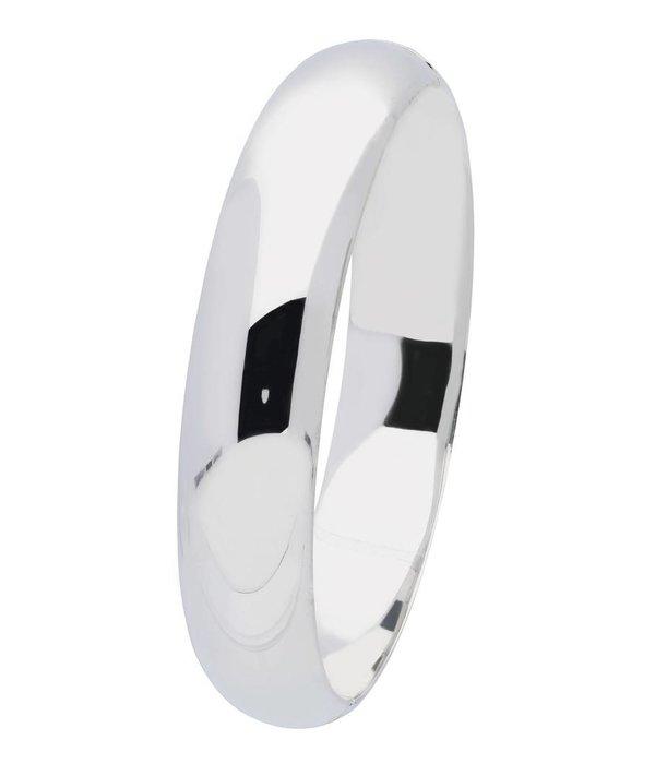 Best basics Zilveren holle slavenband scharnier - ovaal 13 mm - 63 mm