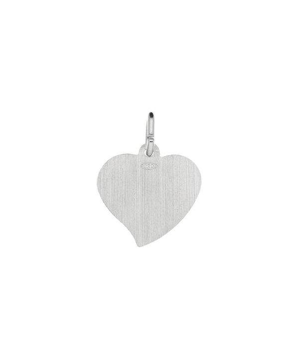 Best basics Zilveren graveerplaatje - 15x15 mm - hart -