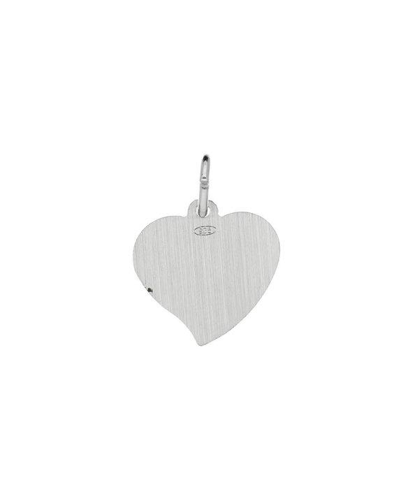 Best basics Zilveren graveerplaatje - 15x15mm - met hart -