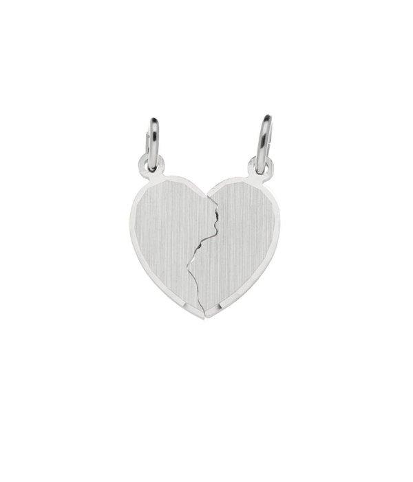 Best basics Zilveren breekhart - 18x15mm -