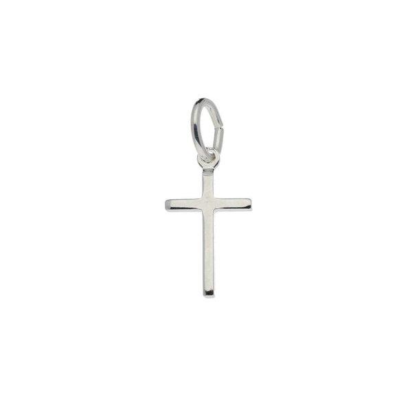 Zilveren kruisje - glad