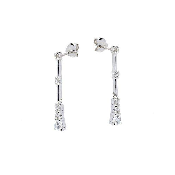 Zilveren oorhangers met zirkonia
