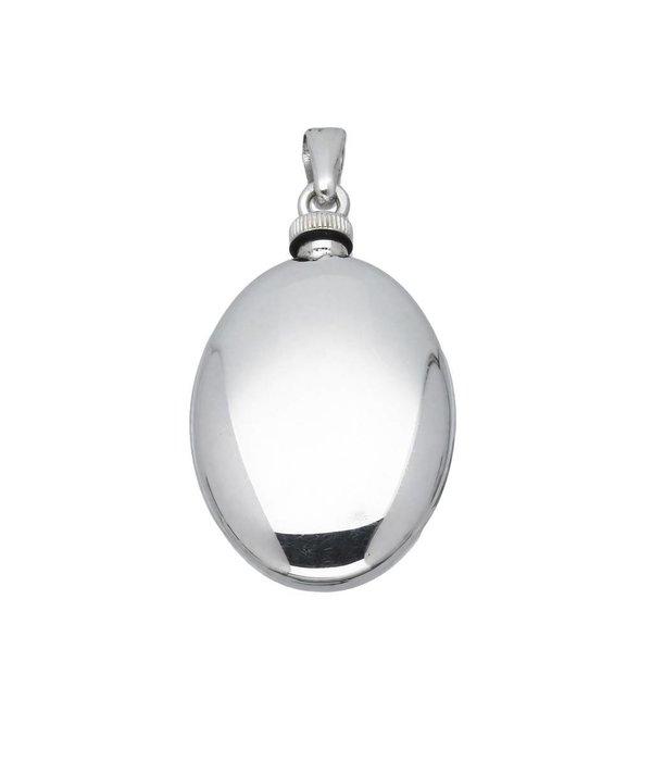 Best basics Zilveren ashanger - ovaal - glad -
