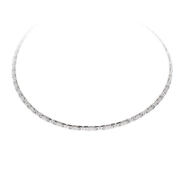 Zilveren collier - matglanzend - gerodineerd