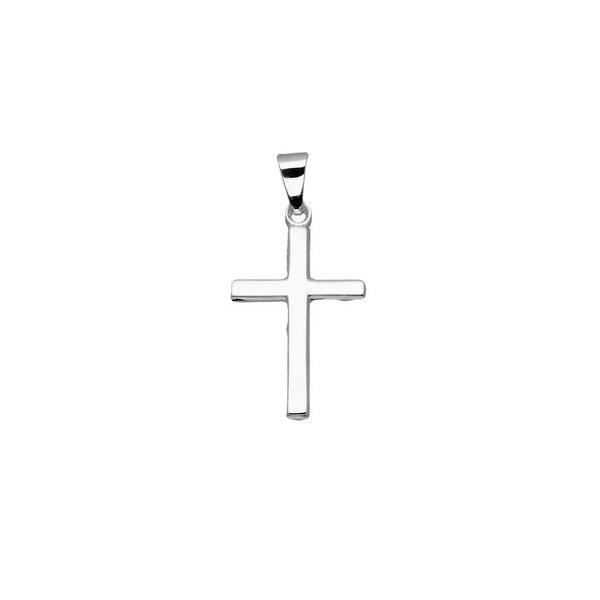 Zilveren kruisje - 27 x 13 mm - glanzend