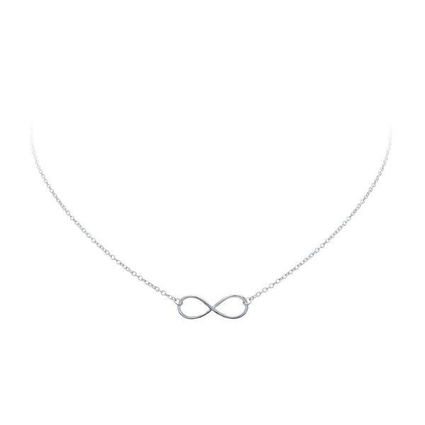 Zilveren collier met hanger - infinity
