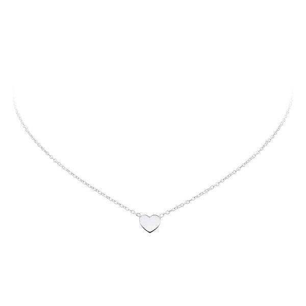 Zilveren collier met hanger - hart