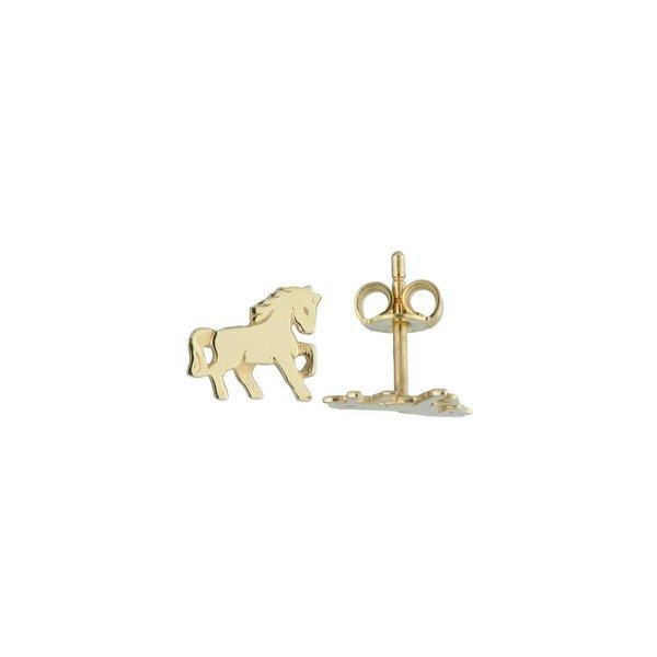 Gouden kinderoorknopjes - paard