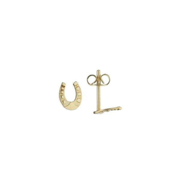 Gouden kinderoorknopjes - hoefijzer