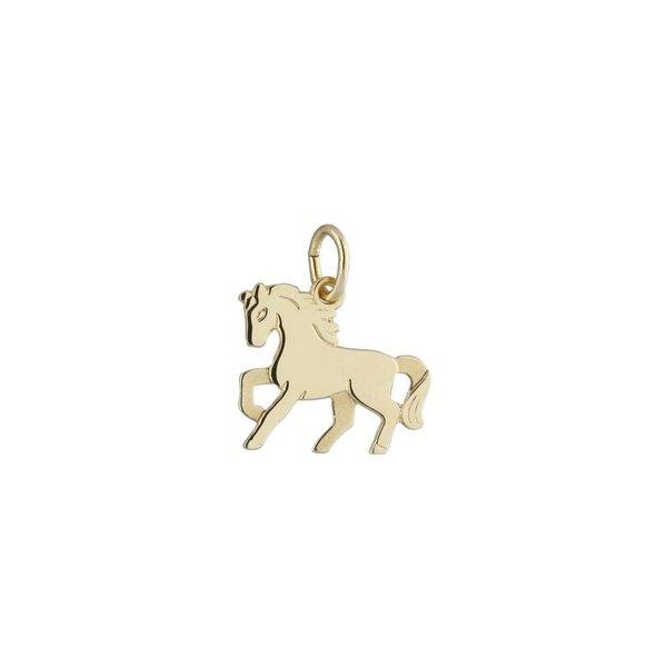 Gouden kinderbedel - paard
