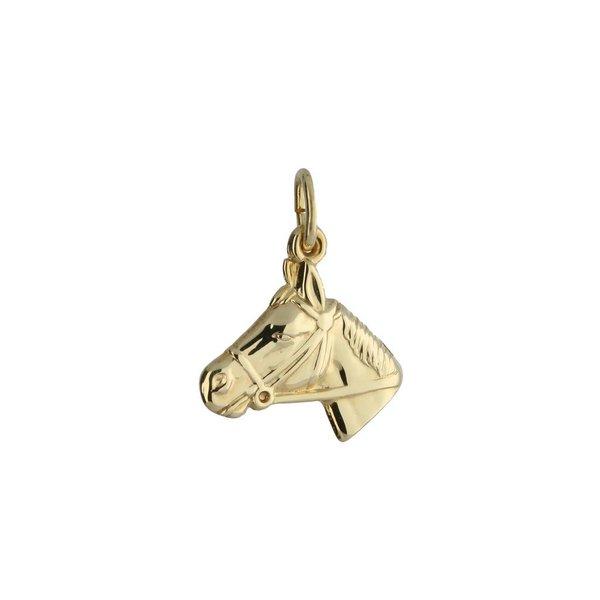 Gouden kinderbedel - paardenhoofd