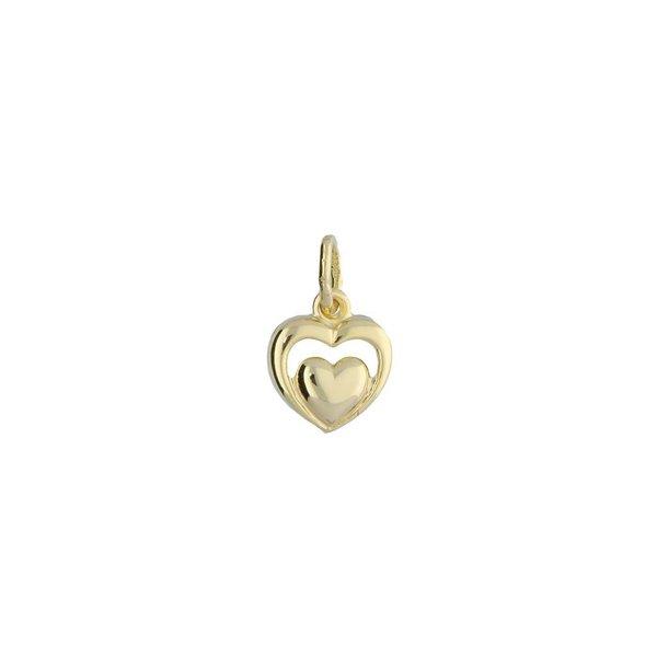 Gouden kinderbedel - hart