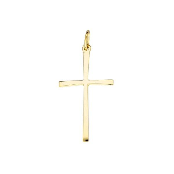 Gouden kruisje - glad - hol