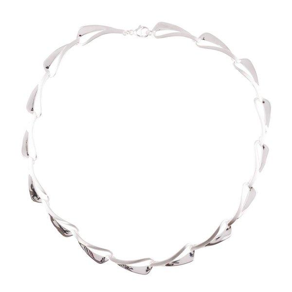 Zilveren choker elegance