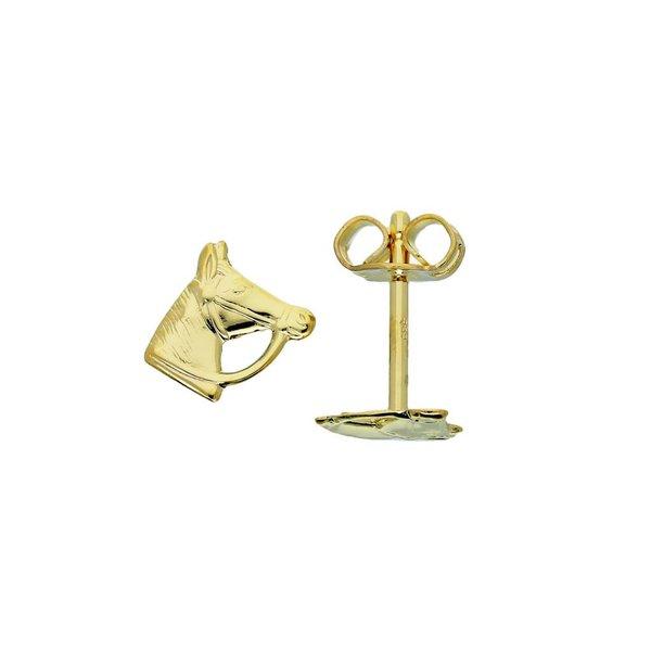 Gouden kinderoorknopjes - paardenhoofd