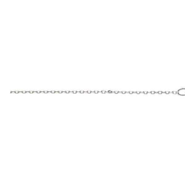 Zilveren gerodineerd lengtecollier - anker 1.2 mm