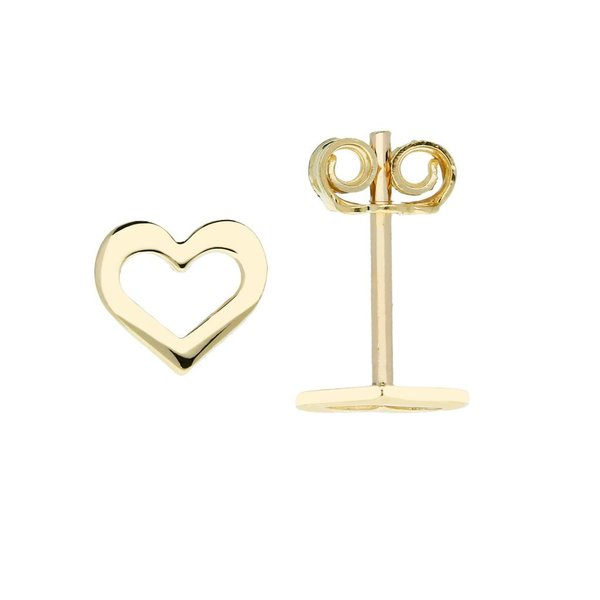 Gouden symbooloorknopjes - hart