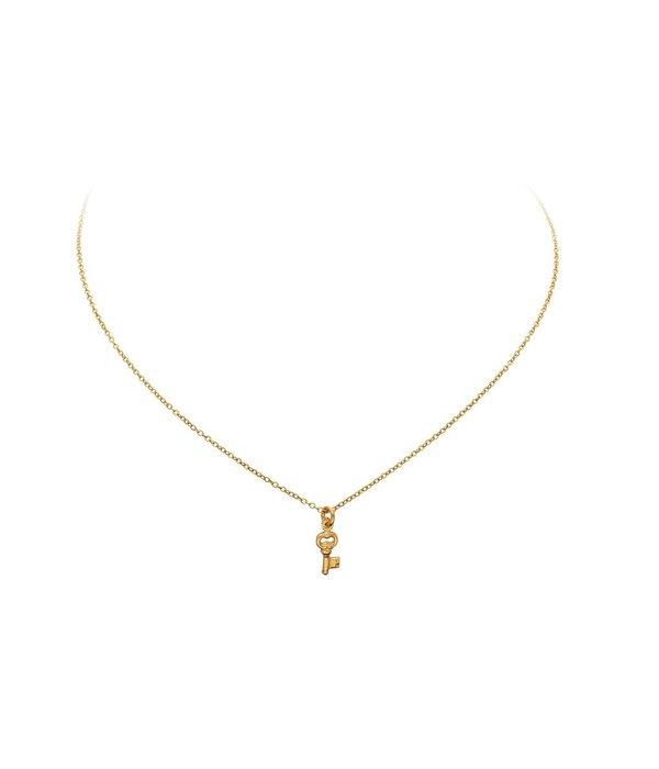 Best basics Zilveren gold-plated symboolcollier - sleutel - Ankerschakel
