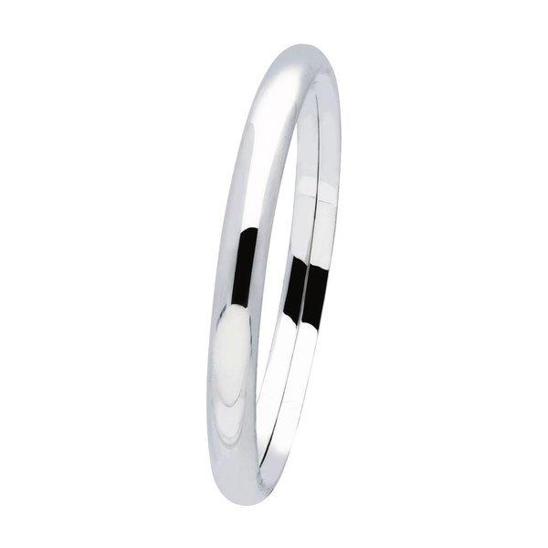 Zilveren holle slavenband dop - ovaal 7 mm - 60 mm