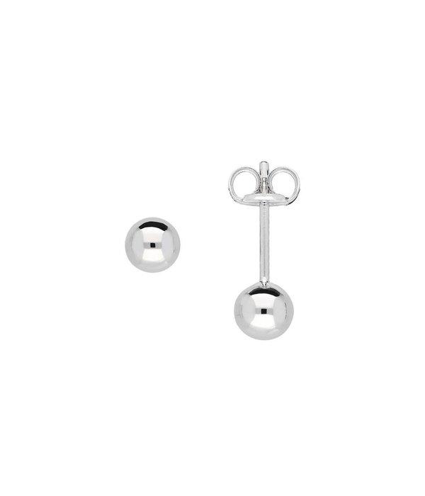 Best basics Zilveren boloorknopjes - 4 mm -