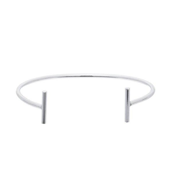 Zilveren klemarmband - staafjes