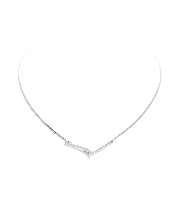 Best basics Zilveren collier best basics - Mat/poly zirk