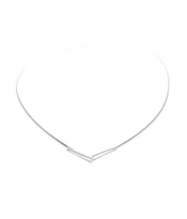 Best basics Zilveren collier best basics - Mat/poly