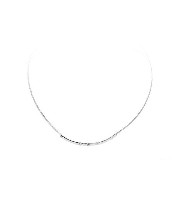 Best basics Zilveren collier best basics - Mat/poly zirkonia