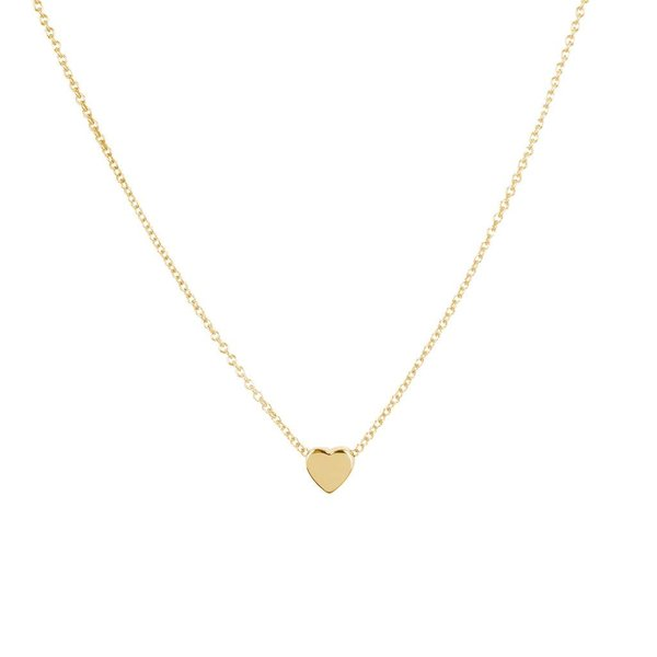 Gouden symboolcollier - hart