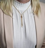 Best basics Zilveren gold-plated y-collier - calza - mesh -