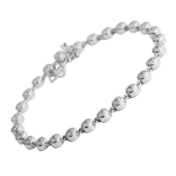 Zilveren tennisarmband diamonfire