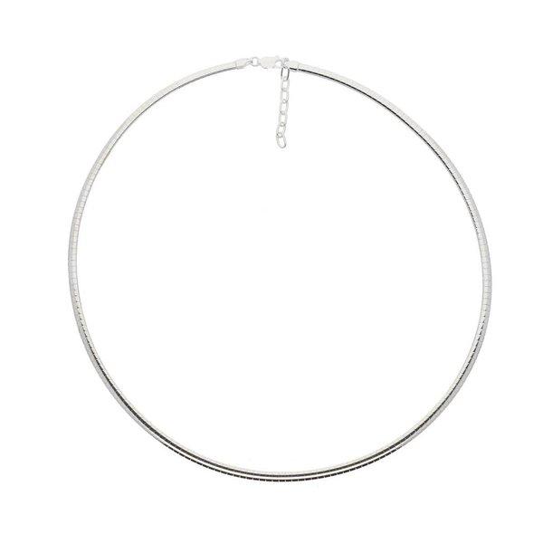 Zilveren omegacollier - halfrond 3.0 mm