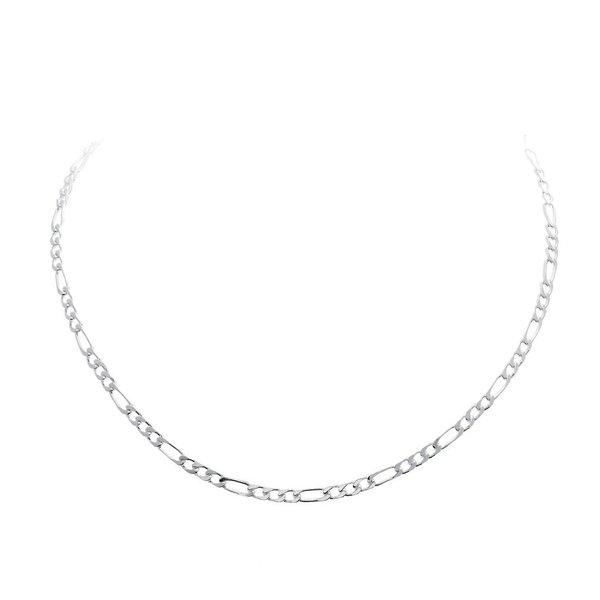 Zilveren schakelcollier - figaro - 2.5 mm
