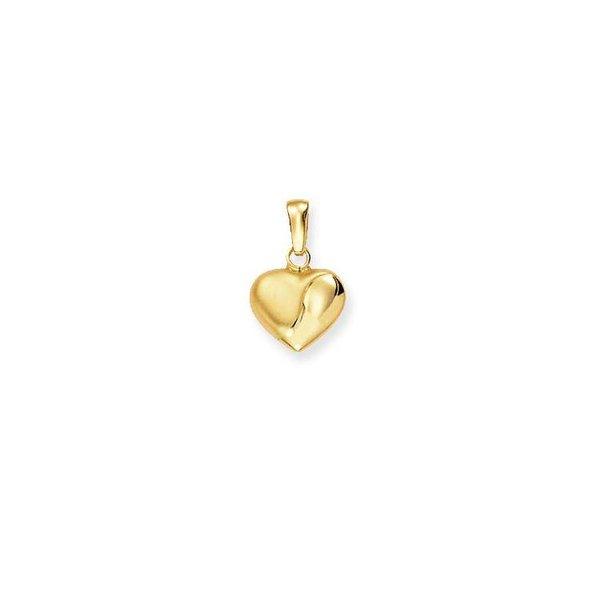 Gouden bedel - bol hart - mat glanzend