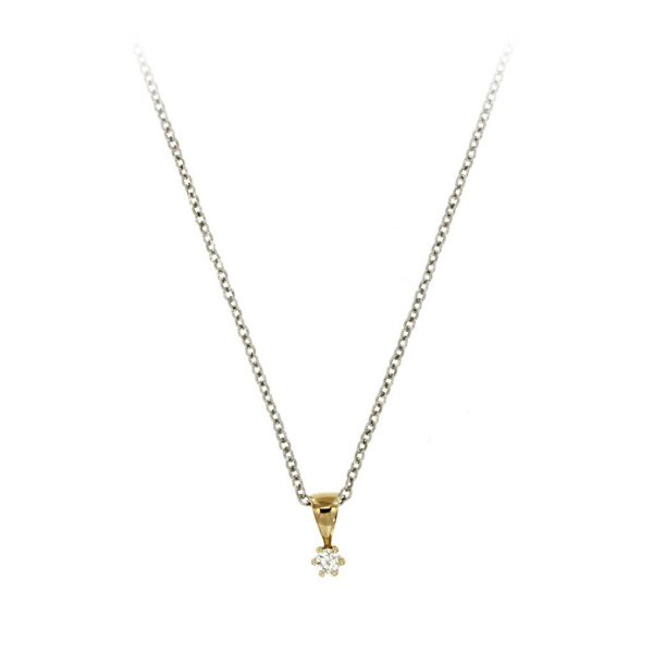 Gouden hanger - diamant - 1-0.05 ct - g/si