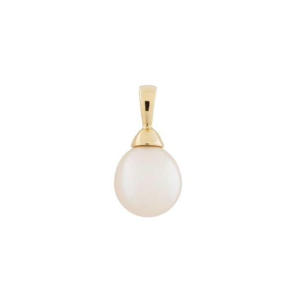 Gouden hanger - zoetwaterparel - druppel