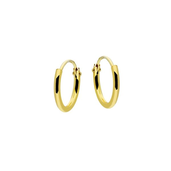 Gouden draadcreolen - ronde buis - 11 x 1.3 mm