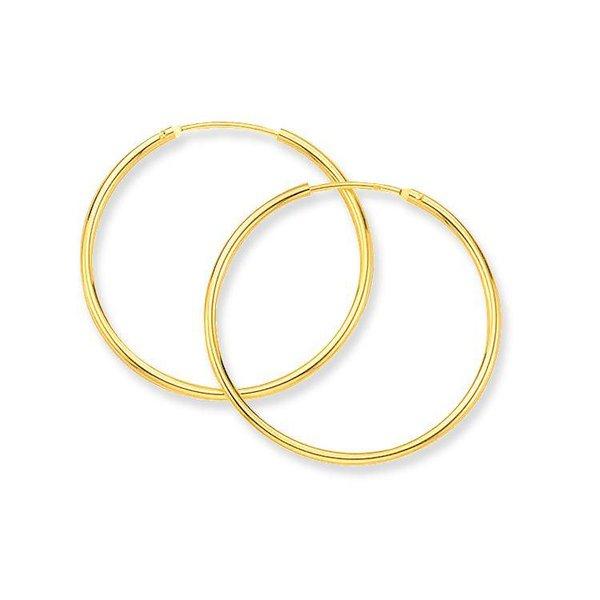 Gouden draadcreolen - ronde buis - 30 x 1.3 mm