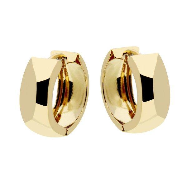 Gouden klapcreolen - ronde buis - 16 mm