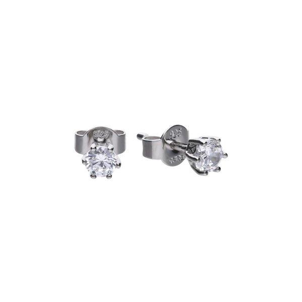 Zilveren solitair oorknoppen diamonfire - 0.25 ct