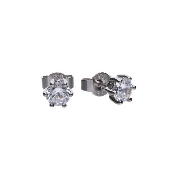 Zilveren solitair oorknoppen diamonfire - 0.50 ct