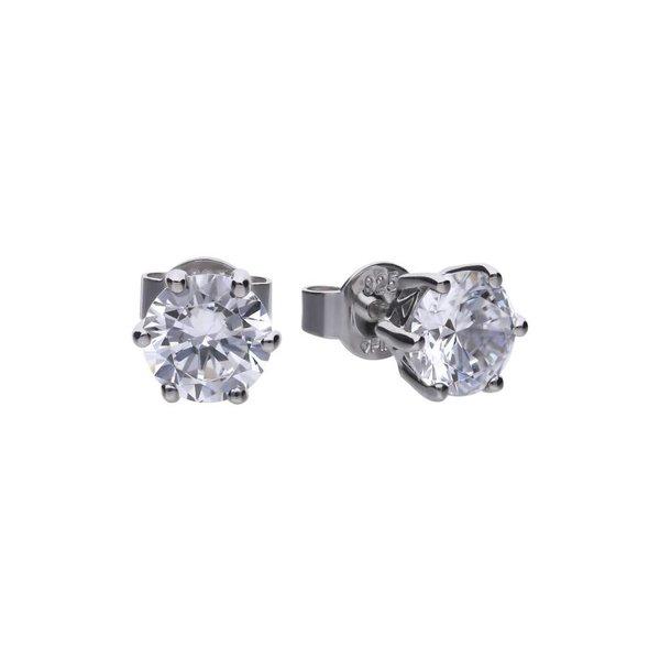 Zilveren solitair oorknoppen diamonfire - 1.00 ct