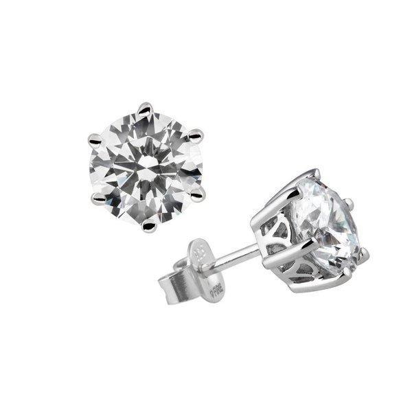 Zilveren solitair oorknoppen diamonfire - 2.00 ct