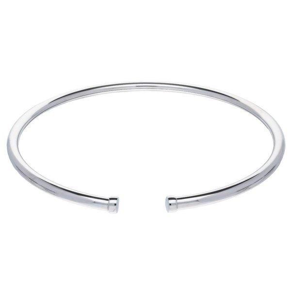 Zilveren spang - 6 mm - rond - gerodineerd