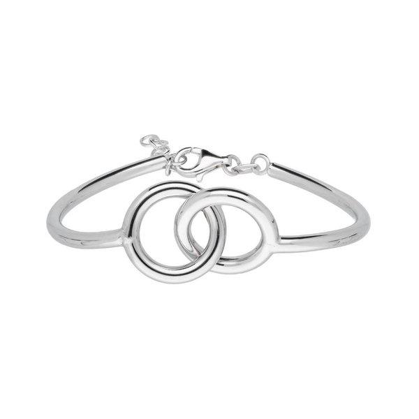 Zilveren armband - open cirkels