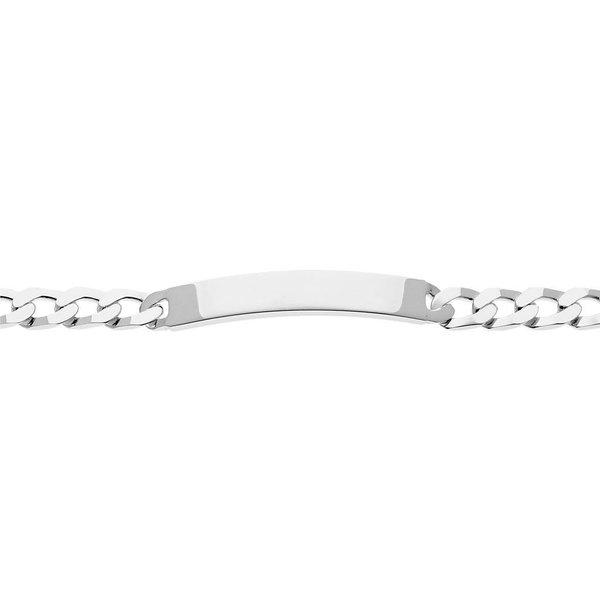 Zilveren plaatarmband - gourmet - 6 mm