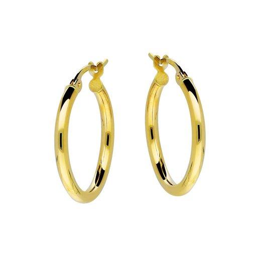 Gouden creolen gold collection - 2x19 mm
