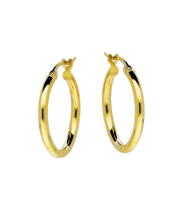 Glow Gouden creolen gold collection - 2x19 mm -